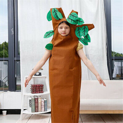 HALLOWEEN GIFT Brown Tree Outfit Unisex Child Kids Cosplay Party Costume 2-7Year • 10.06£