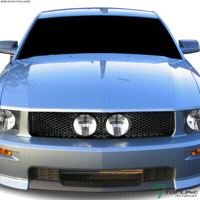 $70 • Buy Topline For 2005-2009 Ford Mustang GT Mesh Front Hood Bumper Grill Grille - Blk
