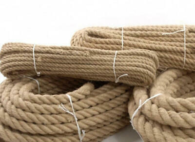 100% Natural Jute Hessian Rope Cord Braided Twisted Boating Sash Garden Decking • 1.38£