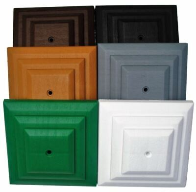 £26.89 • Buy Plastic Square Fence Post Caps 100 (4 ) X100mm (4 ) Six Colours Available To Buy