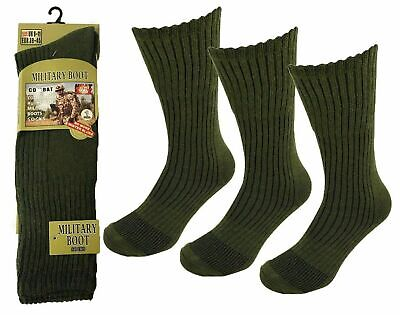 Mens Army Long Military Thermal Warm Winter Socks Olive Size 6-11 Pairs 1,3,6  • 7.49£