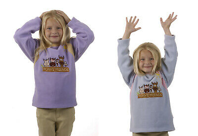 Dublin Cuddly Ponies Long Sleeve Fleece Childs Pony Riding Shirt Kids/childs Top • 14.99£
