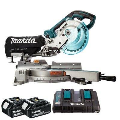 Makita DLS714NZ 36V Brushless 190mm Mitre Saw With 2 X 5.0Ah Batteries & Charger • 771£