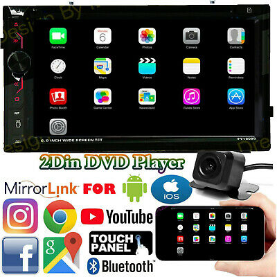 $145.87 • Buy 6.2Inch Car Mirror Link For GPS Navigation Radio DVD Player 2DIN Stereo + Camera