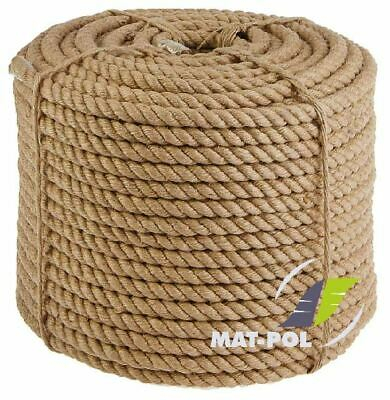 100% Natural Jute Hessian Rope Cord Braided Twisted Boating Sash Garden Decking • 1.36£