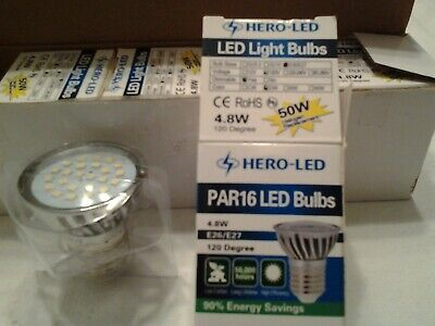 $2.99 • Buy Open Box (5)HERO-LED Dimmable PAR16, 4,8W ,E26/E27 Replacement For 50W Halogen