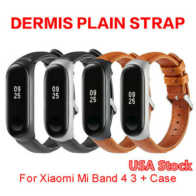 $8.69 • Buy For Xiaomi Mi Band 4/3 Smart Watch Leather Bracelet Replacement Strap W/Frame US