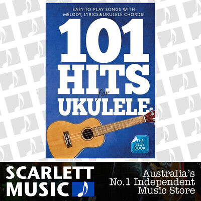 AU41.95 • Buy 101 Hits For Ukulele Blue Book (Softcover Book)