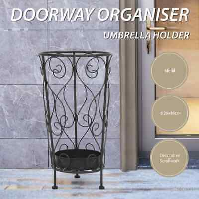 AU51.99 • Buy VidaXL Umbrella Stand Vintage Style Metal Black Drain Stand Storage Holder