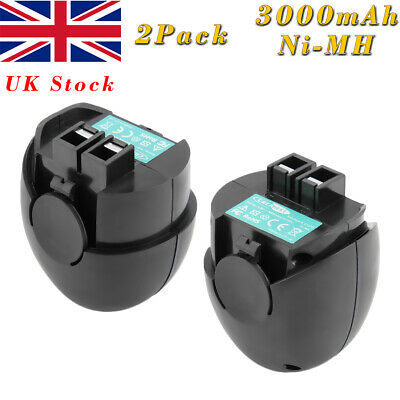 2x4.8V 3000mAh Ni-MH Battery For Metabo Powergrip 2 II Powermaxx 6.27270 6.27271 • 22.90£