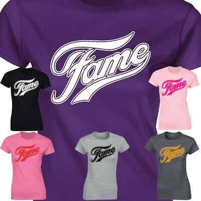 Fame Ladies T-shirt Retro 80's Inspired Grease Musical Modern Fit Girls Tee Top • 4.99£