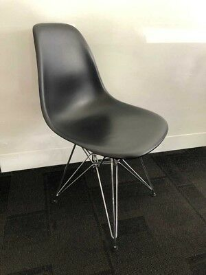 AU199 • Buy Vitra Black Plastic Chair With Ss Base