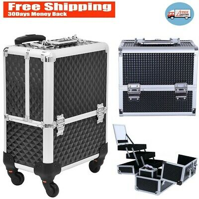 $30.68 • Buy Professional Rolling Makeup Artist Train Case, Cosmetic Case Organizer Lockable