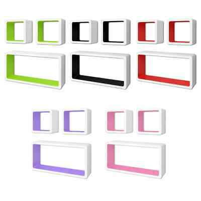 AU53.99 • Buy VidaXL 3/6x Wall Cube Shelves Display Hanging Storage Bookcase Multi Colours