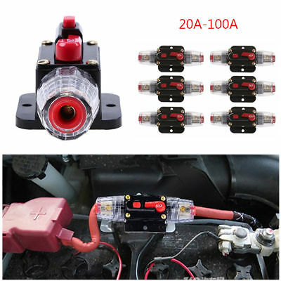 £6.49 • Buy 12V Car Automatic Circuit Breaker 20-100A Switch Safety Fuse Seat Holder Useful