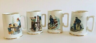 $ CDN26.39 • Buy Set Of 4 Norman Rockwell Museum Coffee Mugs Cups 1985(2-08)
