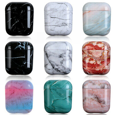 $ CDN6 • Buy Protective Case Cover Bag Shell Marble Stone Hard PC For Apple AirPods 1 2
