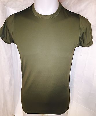 $20 • Buy USMC  ELITE ISSUE MARINE CORPS TACTICAL UNIFORM SKIVVY SPANDEX GREEN SHIRT Small
