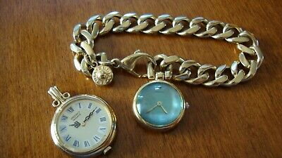 $ CDN99 • Buy Vintage Ladies Seiko Watch One Pendant Not Working One Bracelet Working Clean