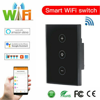 AU27.44 • Buy WIFI Smart Dimmer Light Control Switch Wall Touch Panel For Alexa Google Home AU