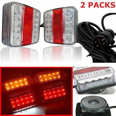 £25.99 • Buy Magnetic LED Trailer Towing Lightboard Light Rear Tail Board Lamp With 7.5 Cable