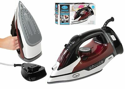 View Details Quest 2400w Cordless Steam Iron Fast Heating Self Cleaning Ceramic Soleplate UK • 17.99£