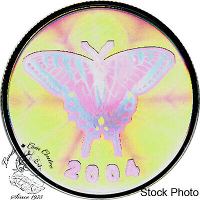 $32.21 • Buy Canada 2004 50 Cents Tiger Swallowtail Butterfly Hologram Silver Coin