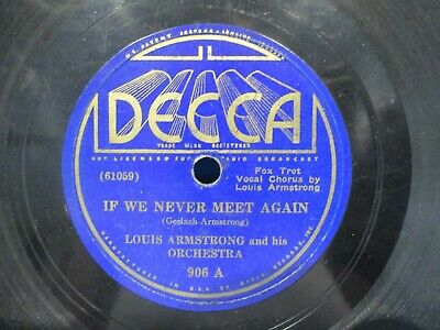 Louis Armstrong 'If We Never Meet Again' 78 • 4.97$