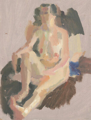 St. Ives School Contemporary Oil - Impressionist Nude Study • 83.34£