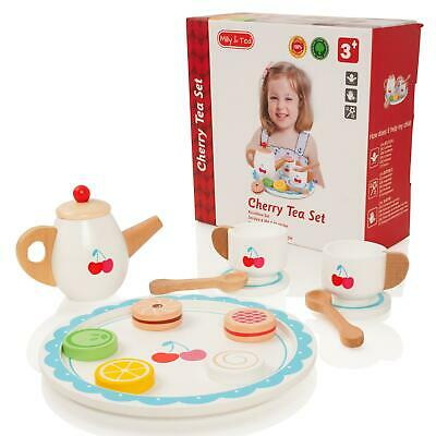£11.50 • Buy Milly & Ted Wooden Cherry Teaset Childrens Pretend Play Food Kitchen Toy