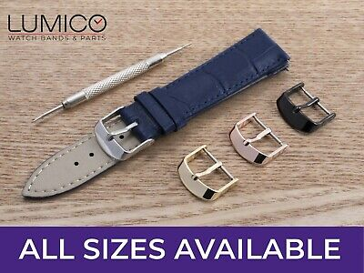 £6.94 • Buy For ACCURIST Watch Navy Blue Genuine Leather Strap Buckle Mens Ladies 12-24mm