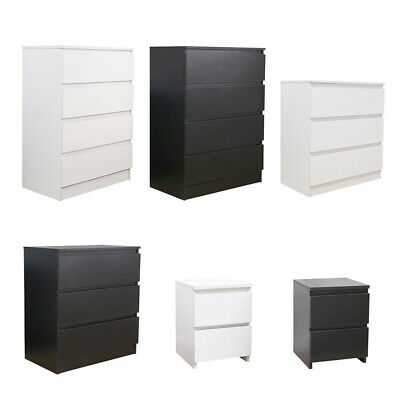 Modern Chest Of Drawers Bedside Table Cabinet Nightstand 2/3/4 Drawers Bedroom • 32.99£