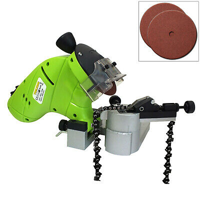 £28.99 • Buy 130w Chainsaw Blade Sharpener Bench Mounted Chain Saw Grinder & 2 Grinding Discs