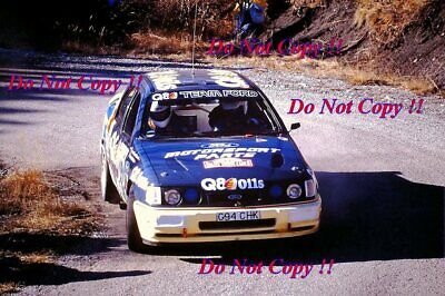 Francois Delecour Ford Sierra RS Cosworth 4x4 Monte Carlo Rally 1991 Photograph • 4£