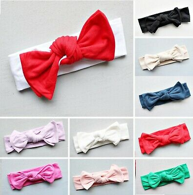 AU9.99 • Buy Bow Top Knot Headband For Baby Girl Toddler Newborn Turban Accessories