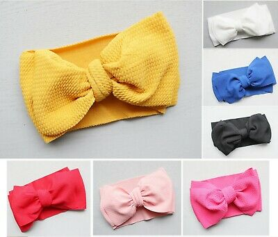 AU12 • Buy Messy Bow Top Knot Headband For Baby Girl Toddler Newborn Turban Accessories