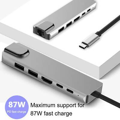 AU29.89 • Buy 6 In 1 USB C Hub USB Type C 3.0 Adapter Dock W/ 4K HDMI PD Charger PC Laptop AU