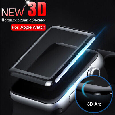$ CDN2.62 • Buy For Apple Watch Series 5/4/3/2/1 Curved Tempered Glass Screen Protector 38~44mm