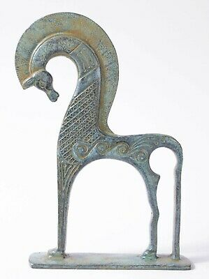 Greek Horse Bronze Statue -Horse Figurine Of Abstract Sculpture - Made In Europe • 63.68£