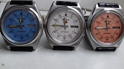 $ CDN88.48 • Buy 3 Watch Lot Seiko 5 Automatic Day&date Mix Dial Numeric Figure Working Watch