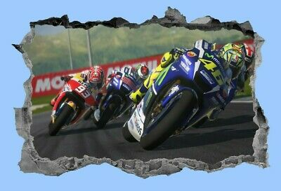 Motorbike,Sticker,Motorcycle,Decal,3d,Racing,Wall Art,Sports,Mural,Decor • 3.99£
