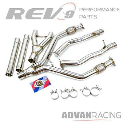 $ CDN509.52 • Buy Stainless Y-Pipe Exhaust Piping Kit 2-1/2 Into 3 Inch Q50 V6 Twin-Turbo Bolt On