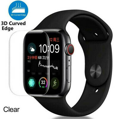 $ CDN2.99 • Buy 3D For Apple Watch Series 5 Tempered Glass Full COVER Screen Protector 40/44mm