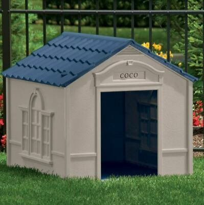 $104.99 • Buy Large Dog Kennel Outdoor Pet House Bed Crate Box Shelter Vents Ventilated Cabin