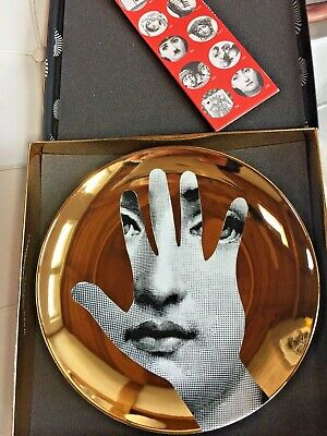 $269 • Buy Fornasetti T&V Plate 15 GOLD
