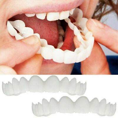 $7.99 • Buy Magic Teeth Brace 2 Pcs/set Temporary Smile Comfort Fit Cosmetic Denture Teeth