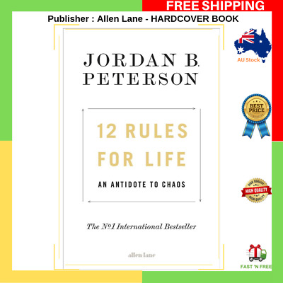 AU45.99 • Buy 12 Rules For Life By Jordan B Peterson Bestseller HARDCOVER BOOK Allen Lane NEW