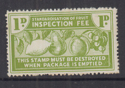 AU14 • Buy New Zealand 1938 1d Green FRUIT INSPECTION FEE- Revenue- Fine MUH