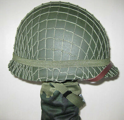 £56.99 • Buy Collect Replica WWII US Army M1 Steel Helmet With Canvas Chin Strap Net Cover