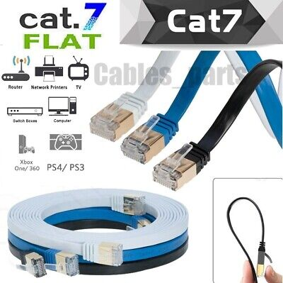 $ CDN44.98 • Buy CAT7 Internet Flat Cable RJ45 Network Patch Cord Ethernet Xbox PS4 PC LAN LOT US